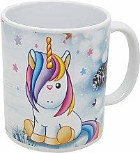 Tazza natalizia con unicorno per bambini o grande