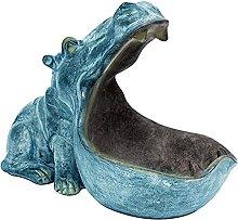 TEAYASON Scultura 1Pc Ippopotamo Statua Resina