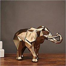 TEAYASON Scultura Astratta Oro Elefante Statua