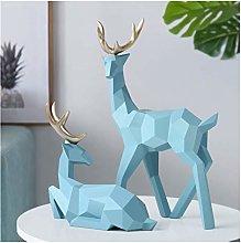 Teayason scultura cervo decorazione statua resina