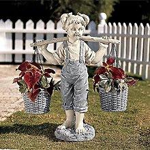 TEAYASON Scultura da Giardino Bella Statua per