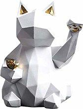 Teayason scultura gatto fortunato resina statua