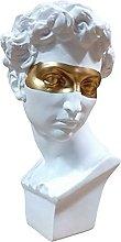 Teayason - Statua classica in resina con testa di