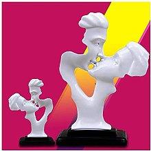 Teayason, vaso da fiori in resina con statua di