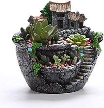 Teayason, vaso per piante grasse, in resina, mini