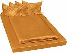 Tectake - biancheria da letto in satin, 200x150