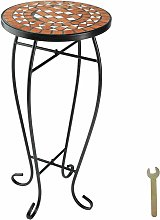 Tectake - Tavolino da balcone sgabello portafiori