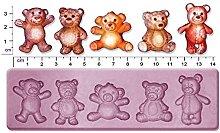 Teddy Bears - Stampo medio in gomma siliconica per