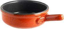 Tegame ceramica 1 manico antiaderente cm 21 arancio