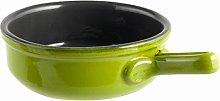 Tegame ceramica 1 manico antiaderente cm 21 verde