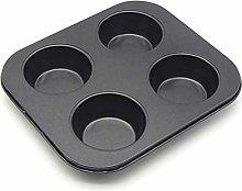 Teglia antiaderente a 4 fori, per torte, muffin e