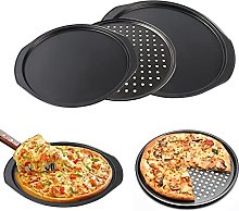 Teglia antiaderente rotonda per pizza e pizza con