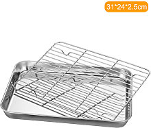 Teglia da forno con fondo piatto in acciaio