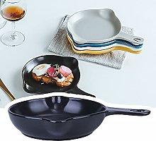 Teglia da forno in ceramica con manici, piatto da