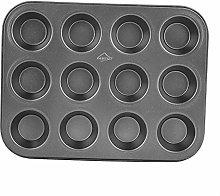 Teglia da forno per cupcake antiaderente, 12 tazze