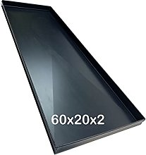 Teglia forno 60x20x2 Cm, Bordo 2 cm con diagonale