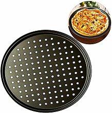 Teglia per pizza antiaderente in acciaio al