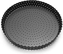 Teglia per pizza con fori e fondo rimovibile in
