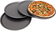 Teglia per Pizza Rotonda, Set da 4, Ø 33 cm,