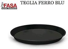 TEGLIA Pizza Ferro Lamiera Blu 30cm h.3cm