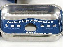 Teglia Rettangolare 20x14 argento - Steel Pan