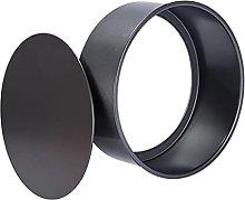 Teglia rotonda da 9 pollici nero in acciaio al