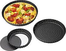 Teglia rotonda per pizza in acciaio al carbonio,