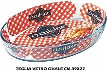 Teglia Vetro Ovale Cm.39X27 Ocusine