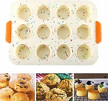 Teglie da Muffin, NALCY Teglia Antiaderente per 12