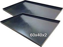 Teglie forno 60x40x2 Cm, bordo 2 cm con diagonale