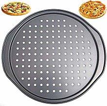Teglie per Pizza Rotonde Forate Antiaderenti,