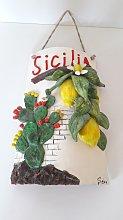 Tegola con bassorilievo Sicilia