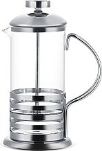 Teiera, caffettiera in vetro in acciaio
