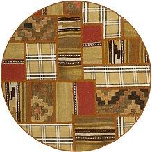 Tekkeh Kilim Persia beige rotondo cm.100x100
