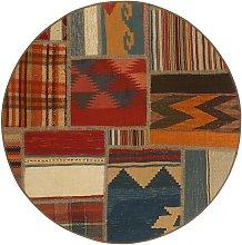 Tekkeh Kilim Persia multicolore rotondo cm.100x100