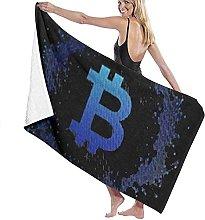 Telo Mare Microfibra,Bitcoin (1) Asciugamano Da