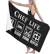 Telo Mare Microfibra,Chef Life Fun Asciugamano Da