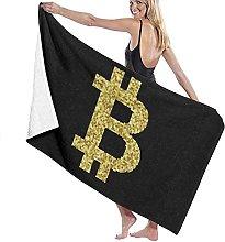 Telo Mare Microfibra,Logo Bitcoin Asciugamano Da