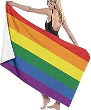 Telo Mare Microfibra,Love Is Love Bandiera Gay &