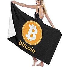 Telo Mare Microfibra,Modello Bitcoin Asciugamano
