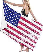 Telo Mare Microfibra,Modello Di Bandiera Americana