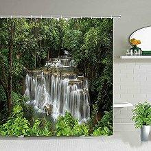 Tema a cascata Paesaggio della foresta Tende da