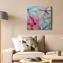 Tema - Quadro fiori dipinto a mano floreale su