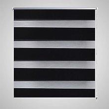 Tenda a rullo oscurante zebra 140x175cm nera - Nero