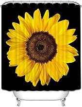 Tenda da Bagno Fiore giallo Tenda Doccia Antimuffa