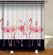 Tenda da Bagno Grande uccello rosa Tenda Doccia