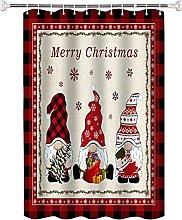 Tenda da Bagno Motivo natalizio rosso Tende