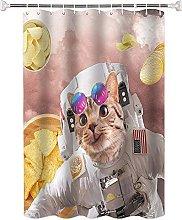 Tenda da Doccia Animale gatto astronauta Tessuto