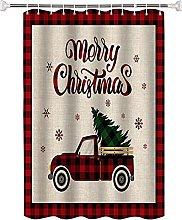 Tenda da doccia Camion con motivo rosso natalizio