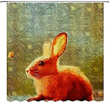 Tenda da doccia con coniglietto rosso, stile